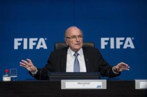 Il presidente dimissionario della Fifa, Blatter