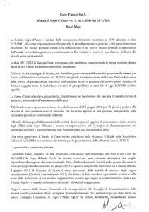 Il documento firmato da Bruschini e Marconi il 13 ottobre 2014